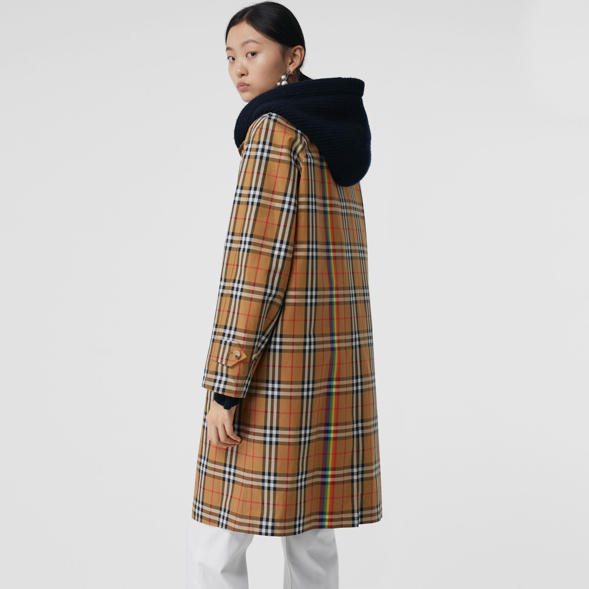Rainbow Vintage Check Car Coat in Multicolour - Women | Burberry Australia - gallery image 2