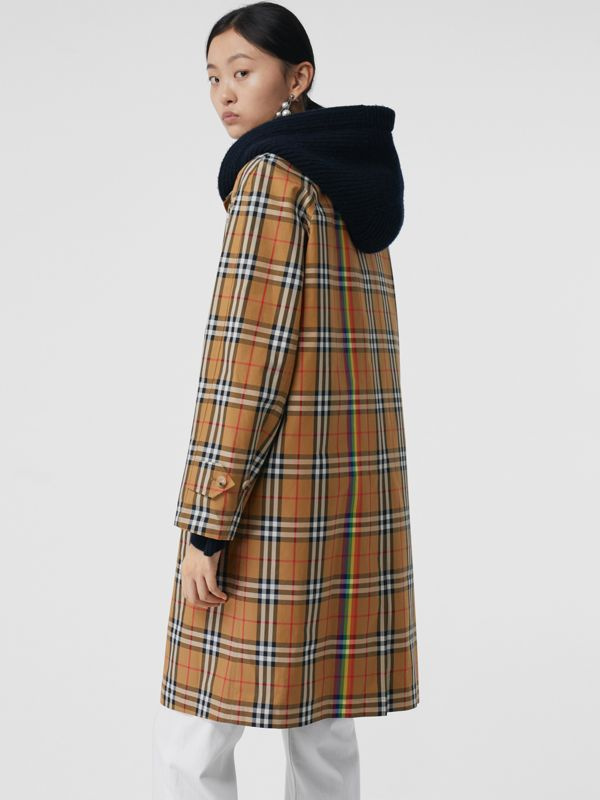 Rainbow Vintage Check Car Coat in Multicolour - Women | Burberry Australia - cell image 2