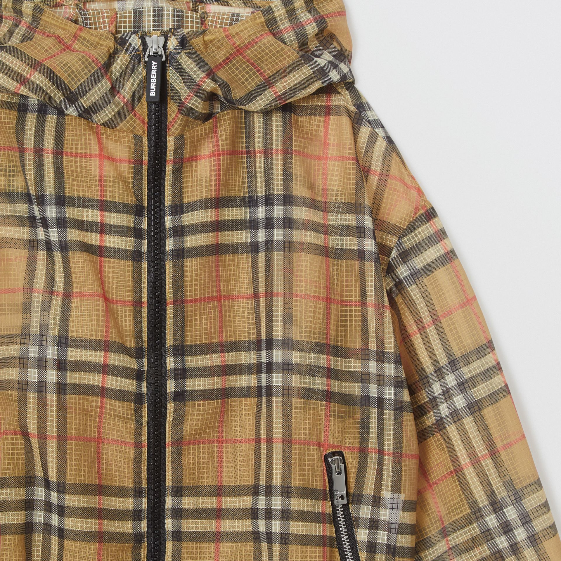 Lightweight Vintage Check Hooded Jacket in Antique Yellow | Burberry Canada - gallery image 5
