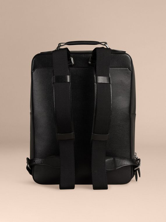 Black London Leather Backpack Black - cell image 3