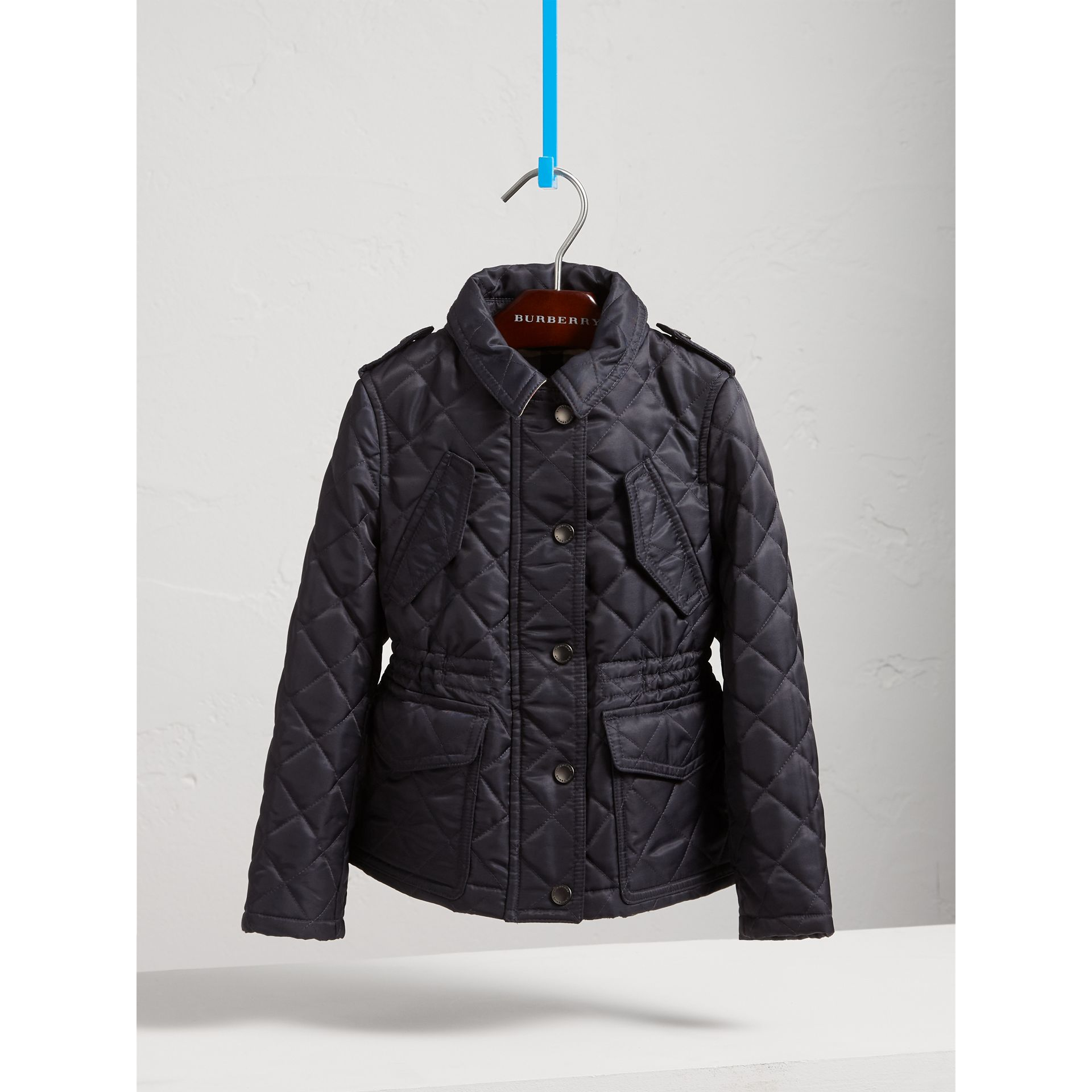 Quilted Field Jacket in Navy - Girl | Burberry - gallery image 3
