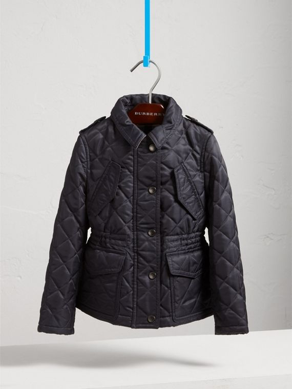 Quilted Field Jacket in Navy - Girl | Burberry - cell image 2