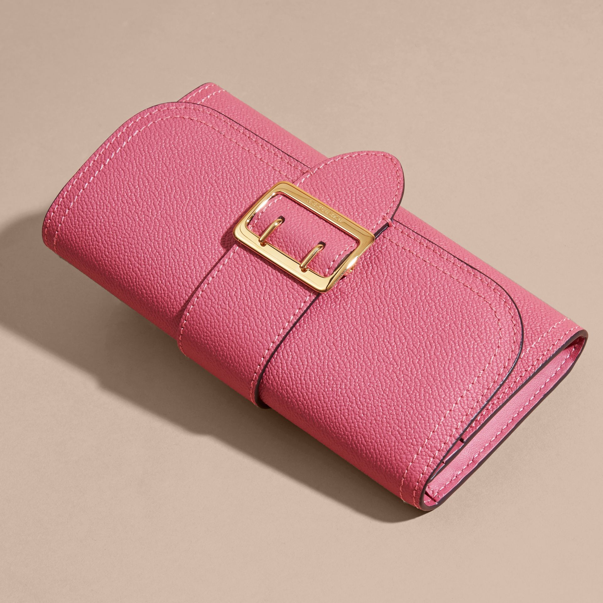 Pink azalea Textured Leather Continental Wallet Pink Azalea - gallery image 6
