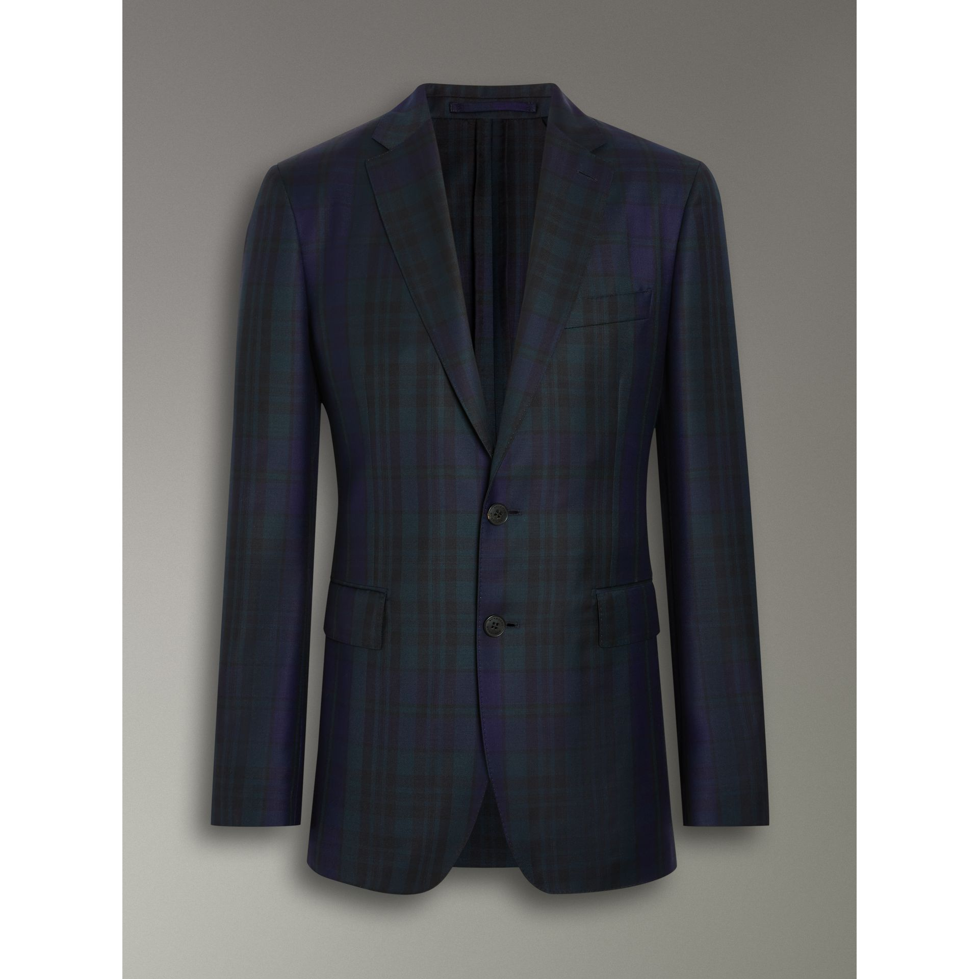 Soho Fit Tartan Wool Twill Suit in Navy - Men | Burberry - gallery image 3