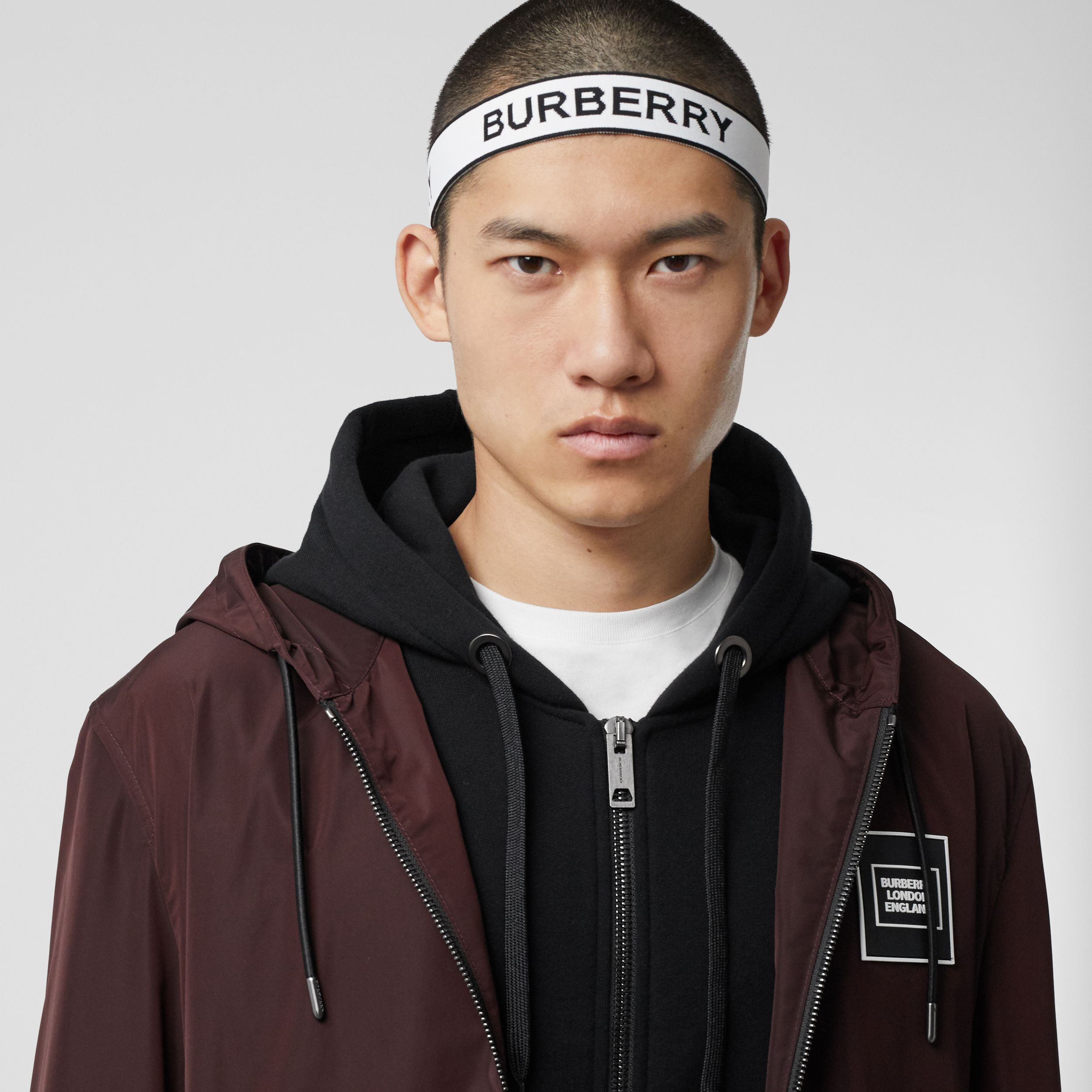 Logo Jacquard Headband in White | Burberry Hong Kong S.A.R. - 4