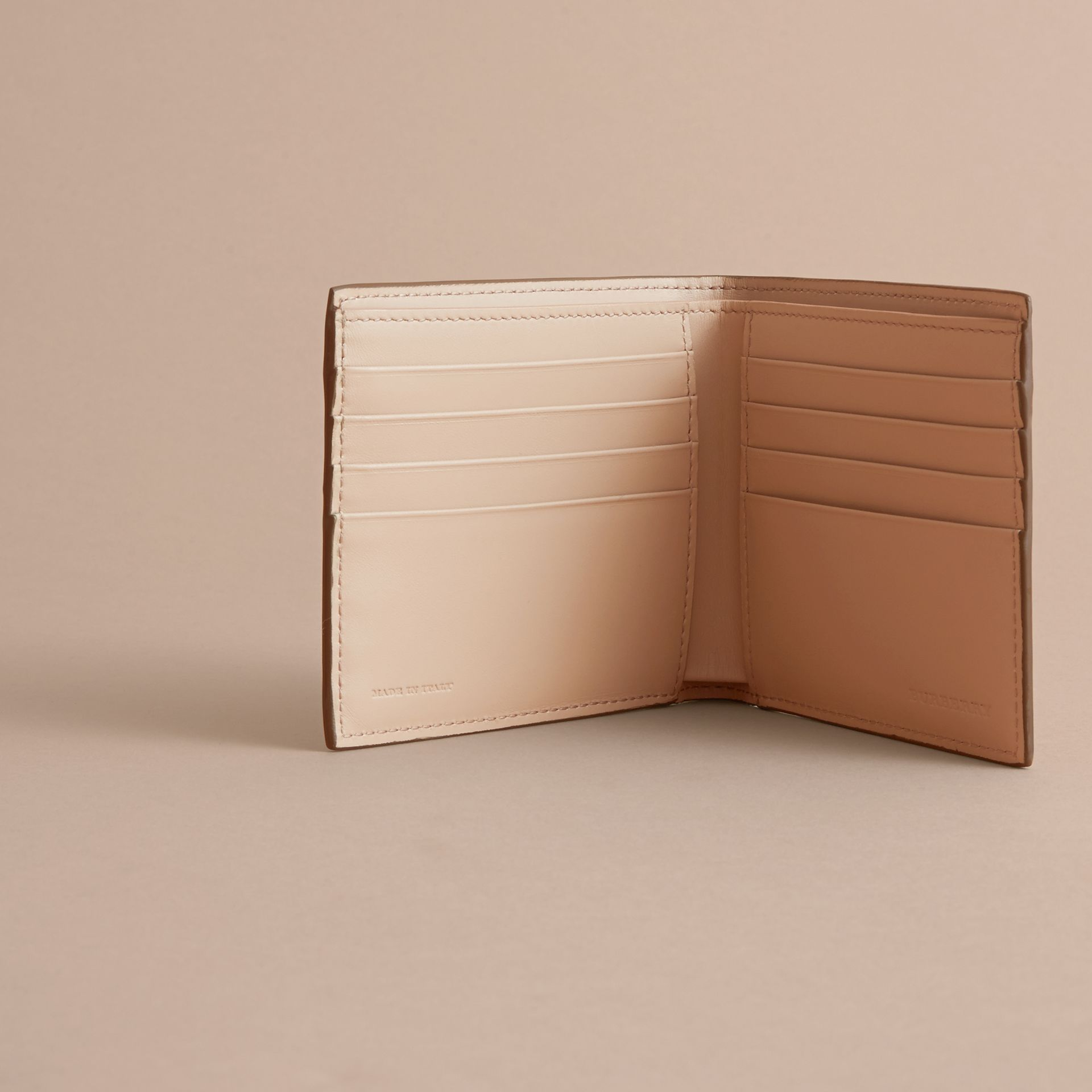 London Leather International Bifold Wallet in Tan | Burberry Australia - gallery image 6