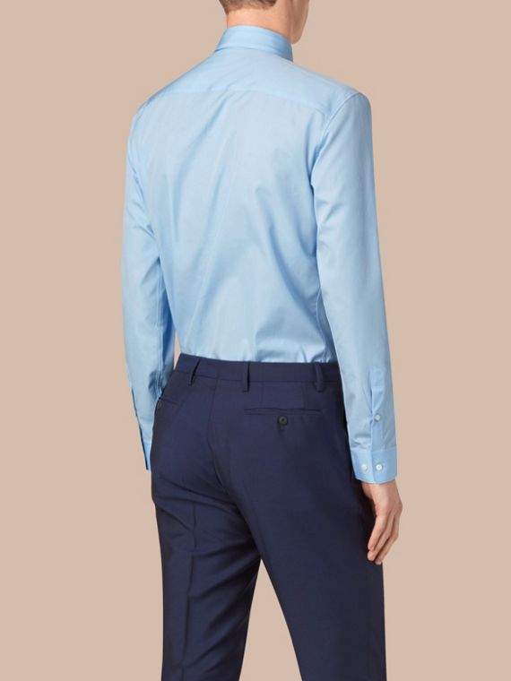 City blue Modern Fit Button-down Collar Cotton Poplin Shirt City Blue - cell image 2