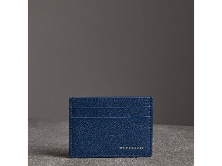 Grainy Leather Card Case in Bright Ultramarine | Burberry - cell image 4