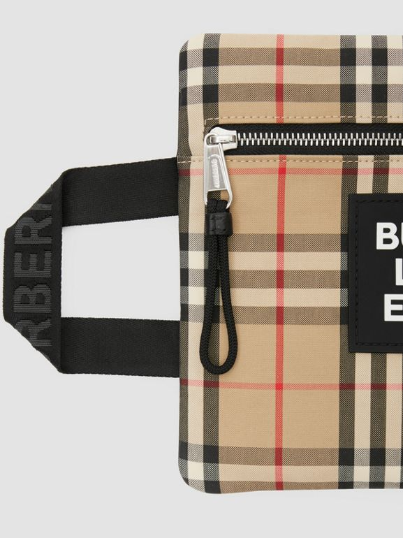 Logo Detail Vintage Check Portrait Pouch in Archive Beige | Burberry - cell image 1