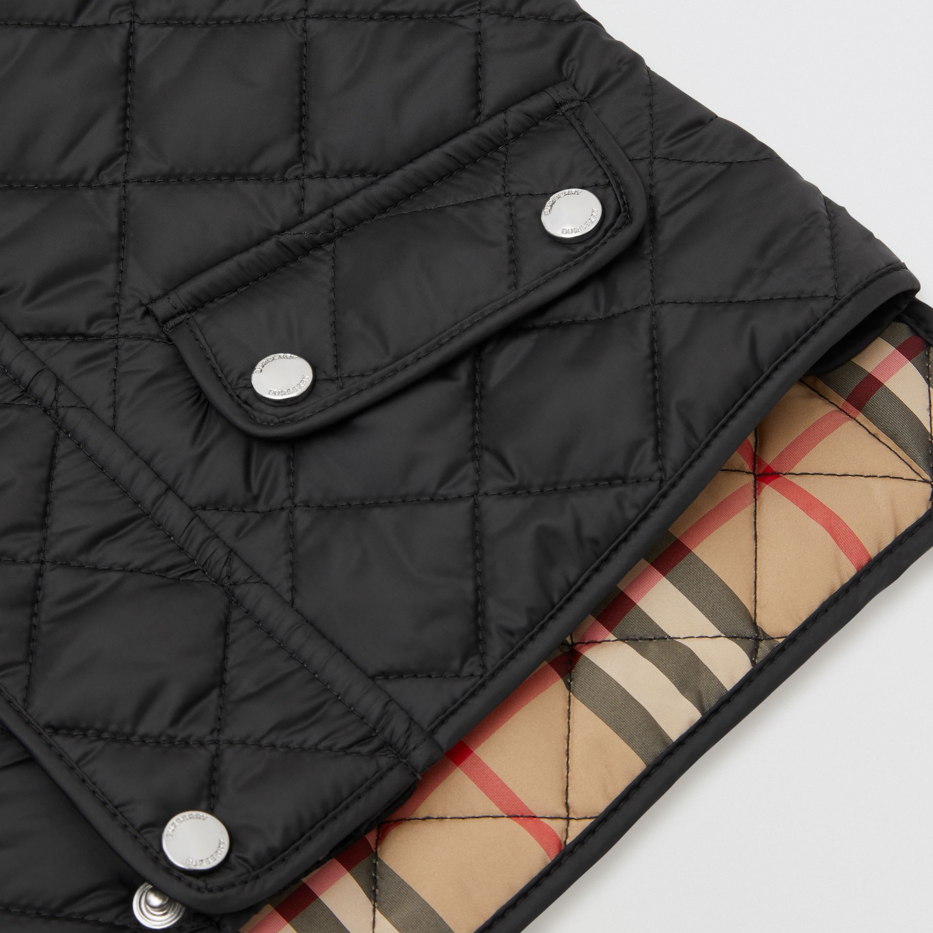 Lightweight Diamond Quilted Jacket in Black - Children | Burberry United Kingdom - gallery image 1