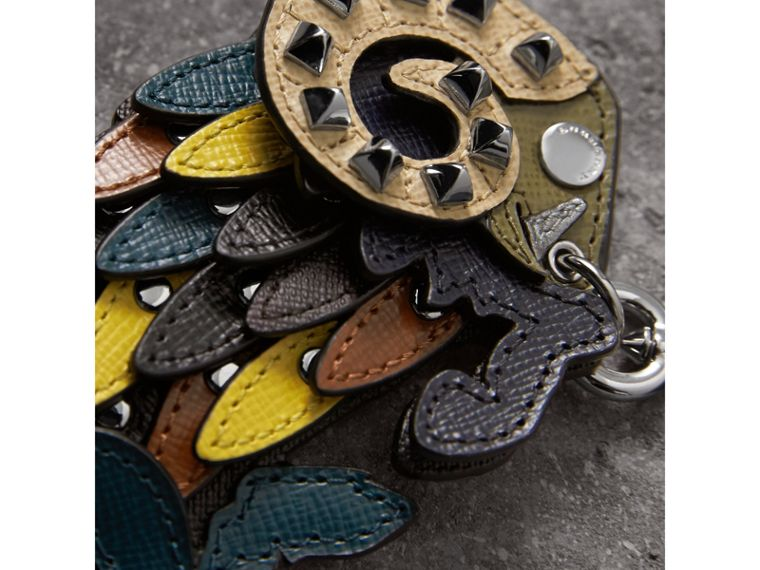 Beasts Riveted Leather Key Ring - Men | Burberry - cell image 1
