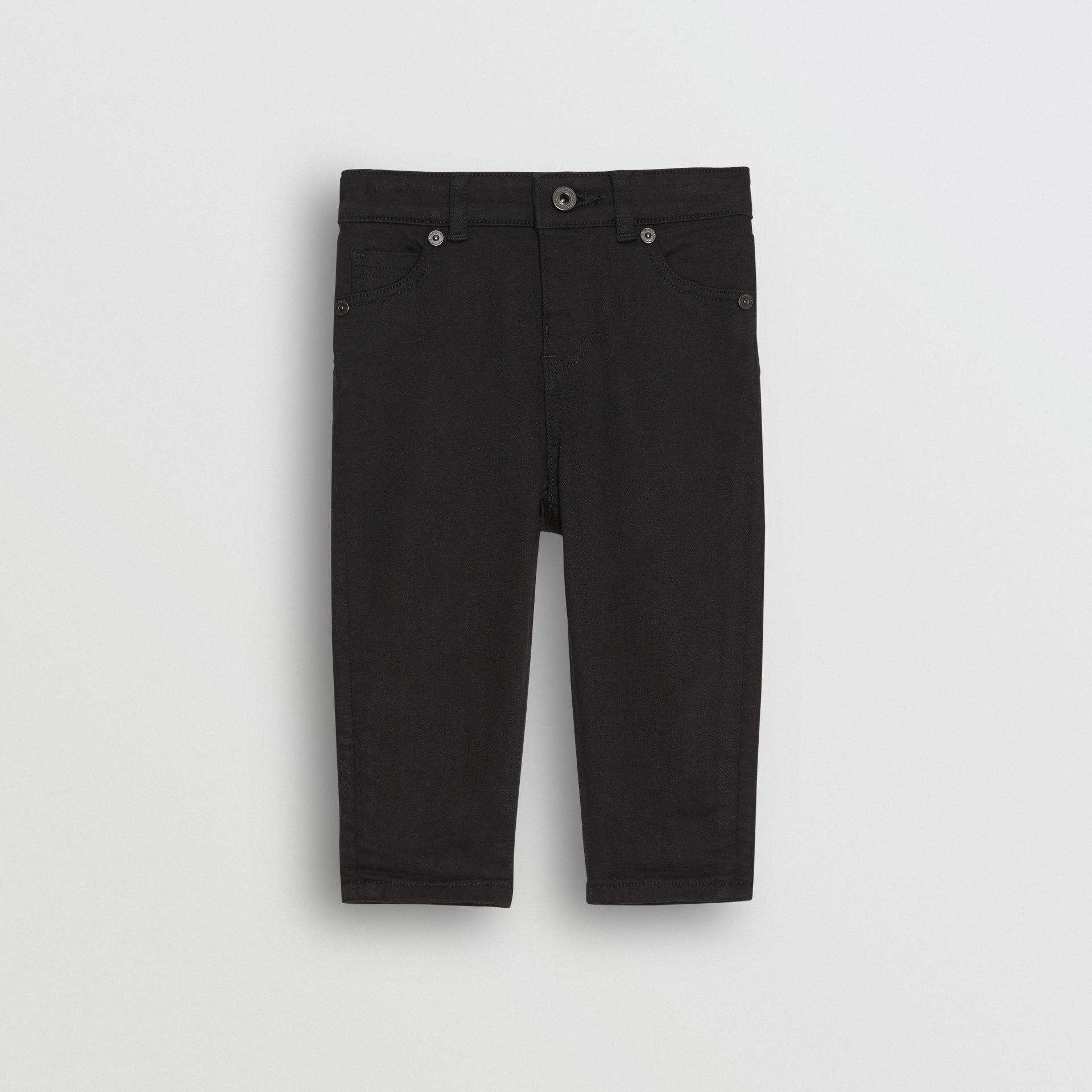 Skinny Fit Stretch Denim Jeans in Black - Children | Burberry - gallery image 0