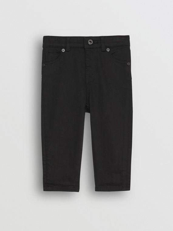 Jean skinny en denim extensible (Noir)