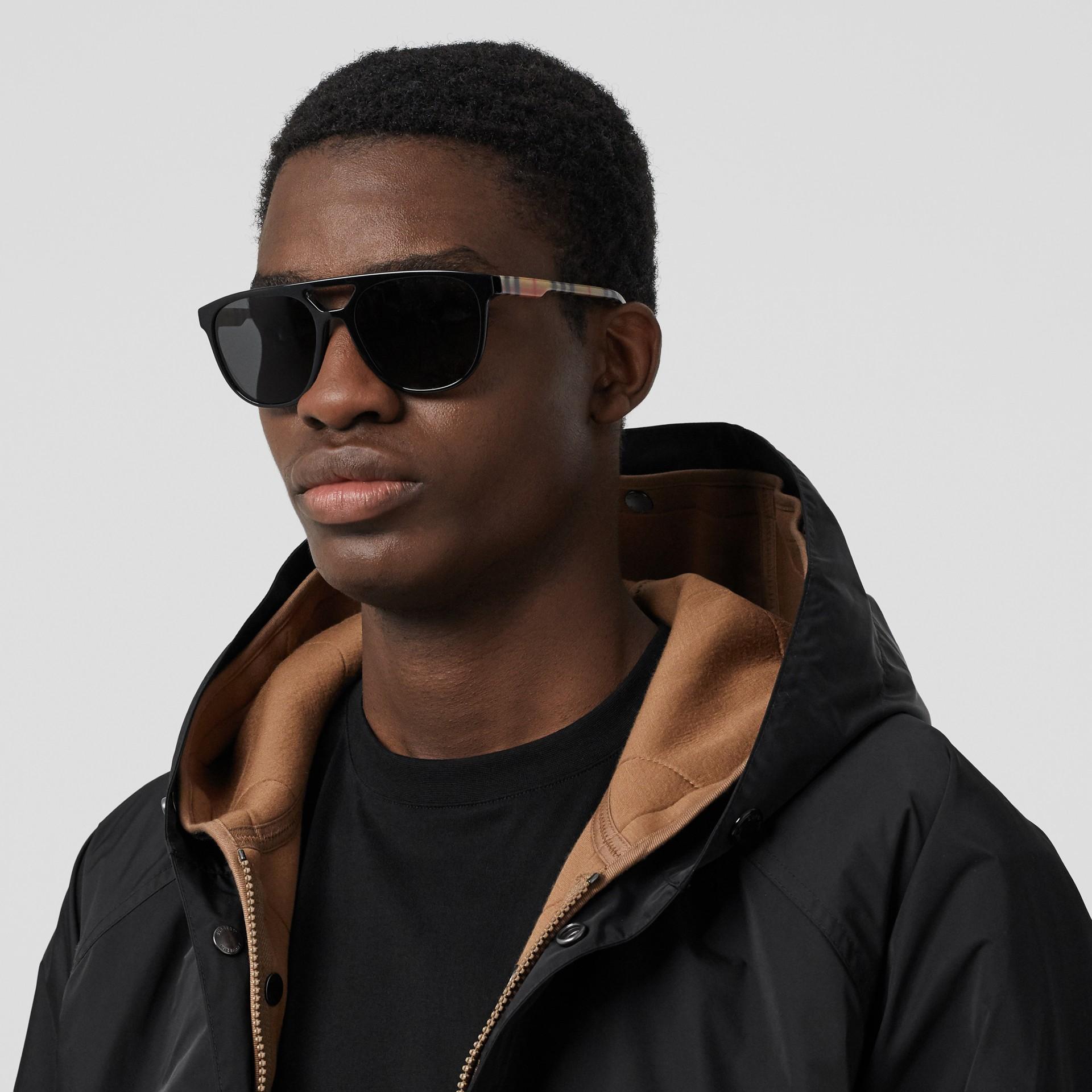 Navigator sunglasses in Black | Burberry - gallery image 2