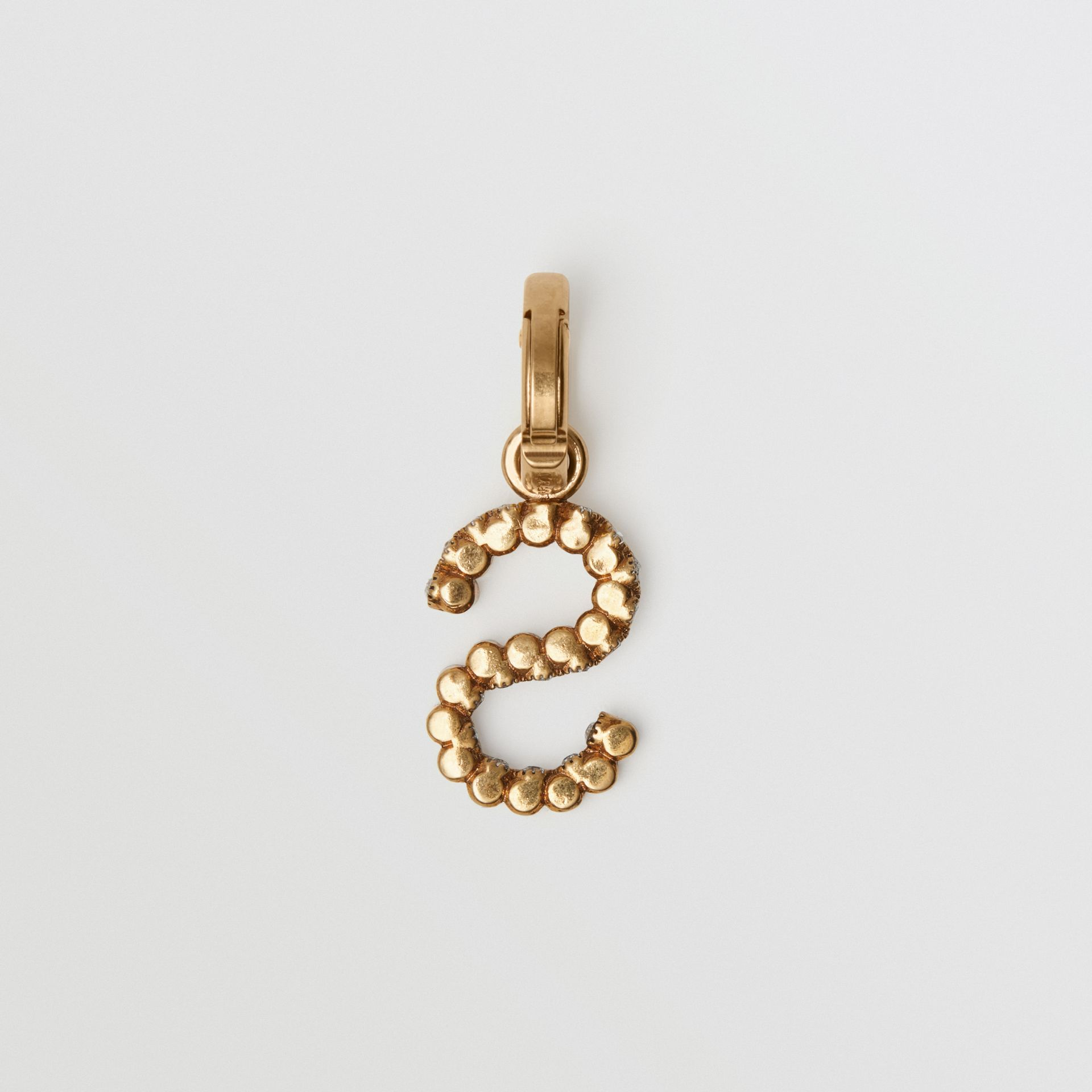 Crystal 'S' Alphabet Charm - Women | Burberry United Kingdom - gallery image 3