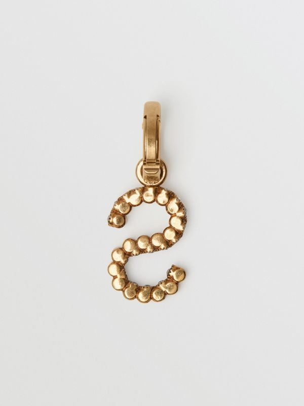 Crystal 'S' Alphabet Charm - Women | Burberry - cell image 3
