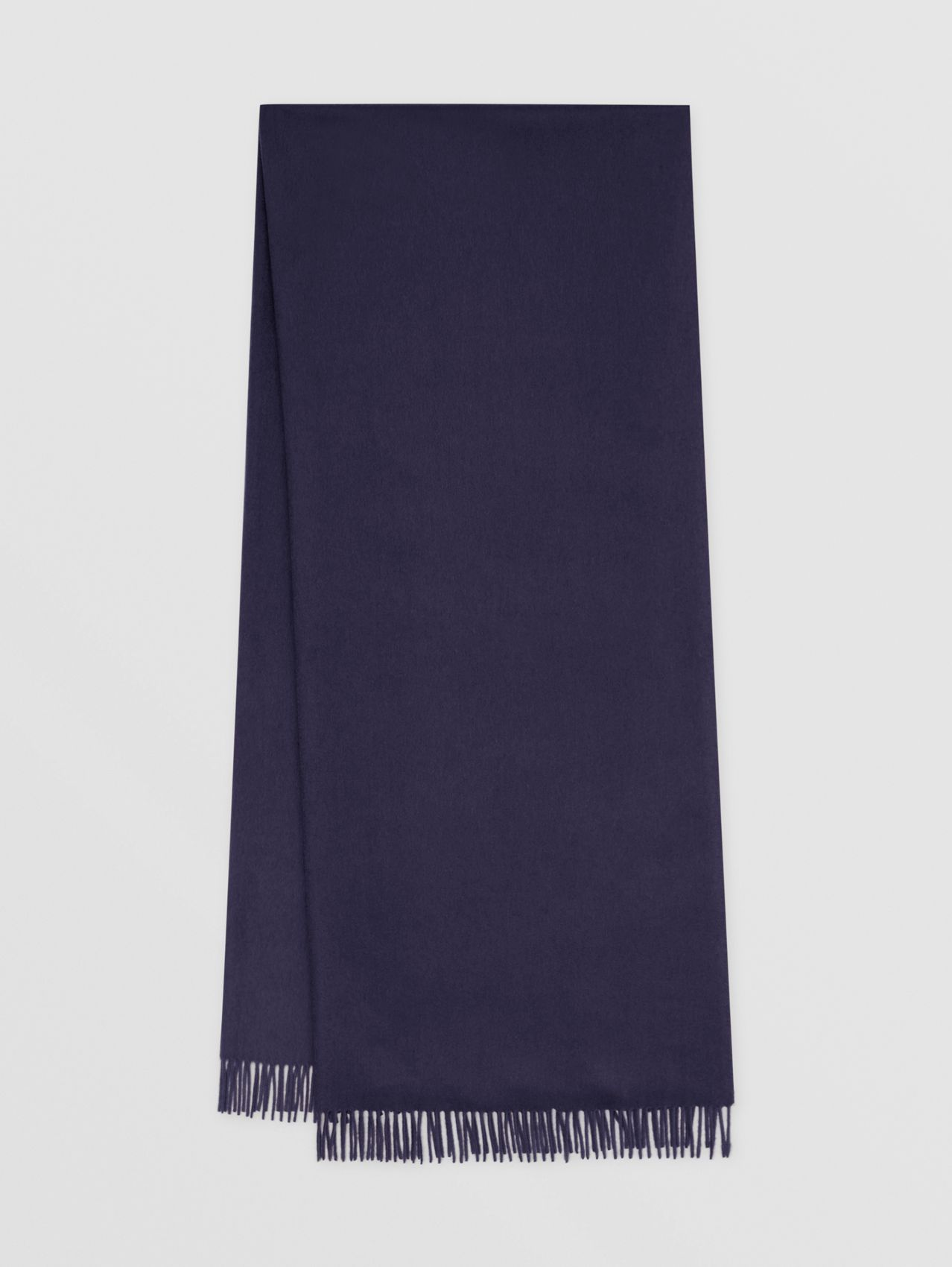 Monogram Motif Regenerated Cashmere Wool Scarf in Navy