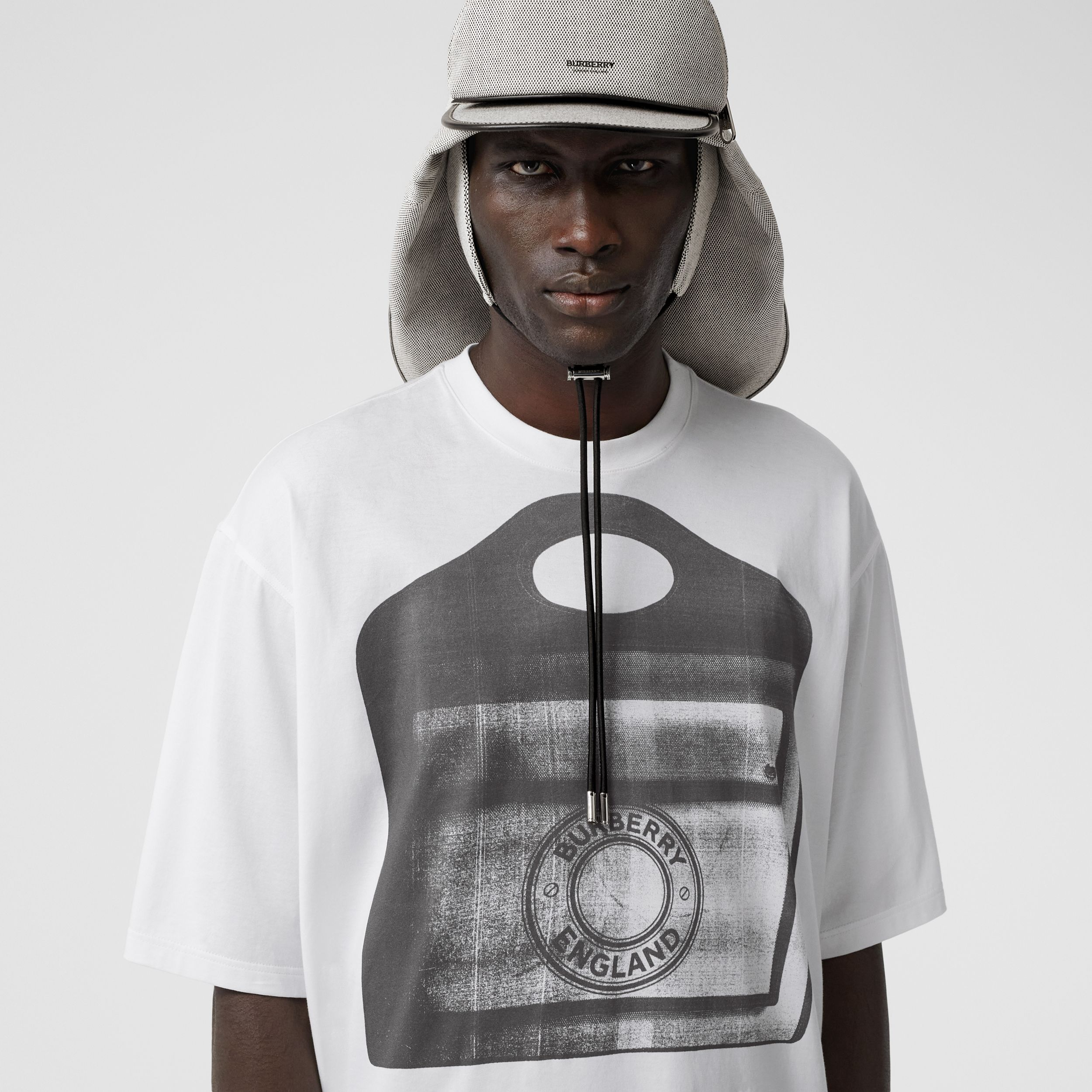 Pocket Bag Print Cotton Jersey T-shirt in White - Men | Burberry Hong Kong S.A.R. - 2