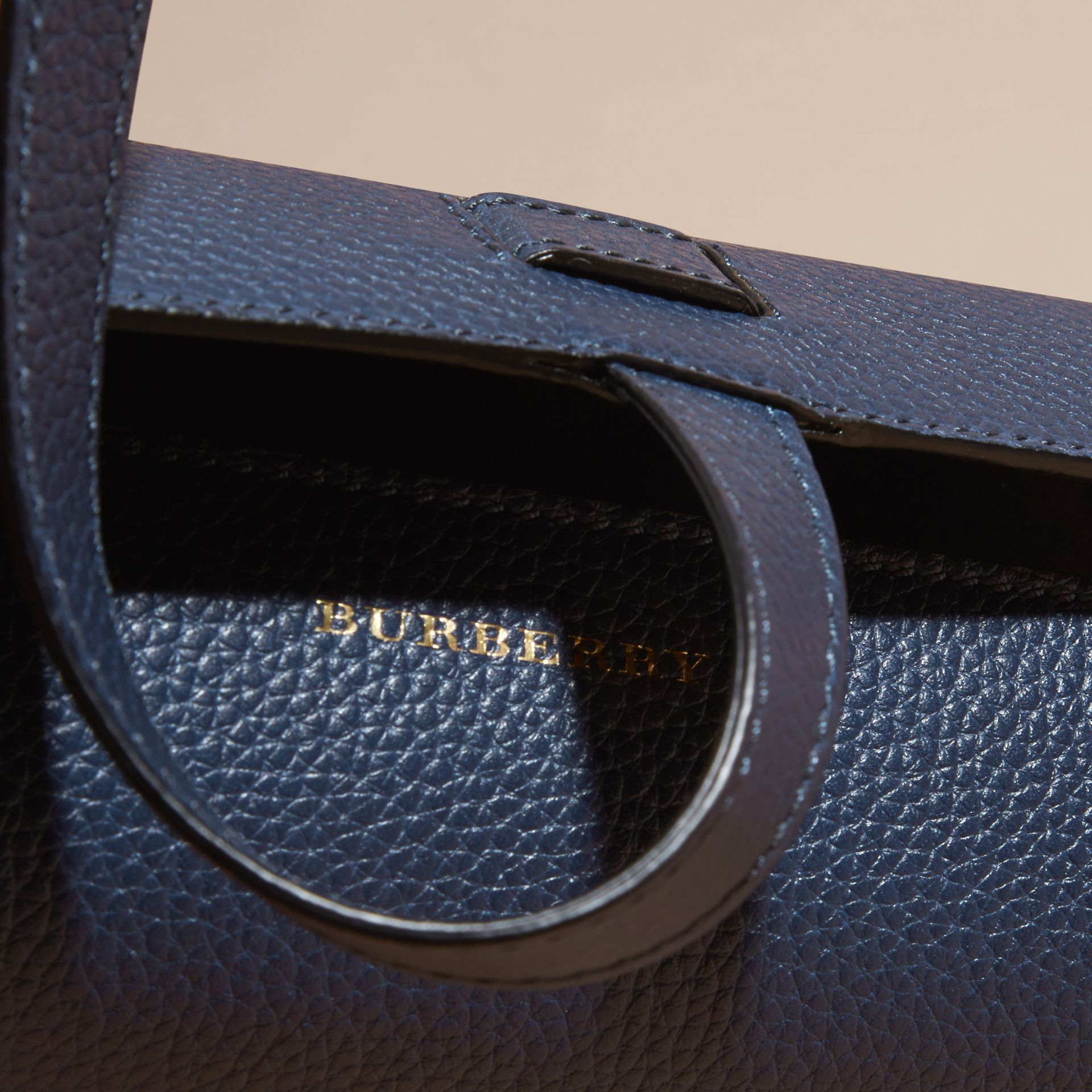 Bright navy Grainy Leather Watch Case Bright Navy - gallery image 2