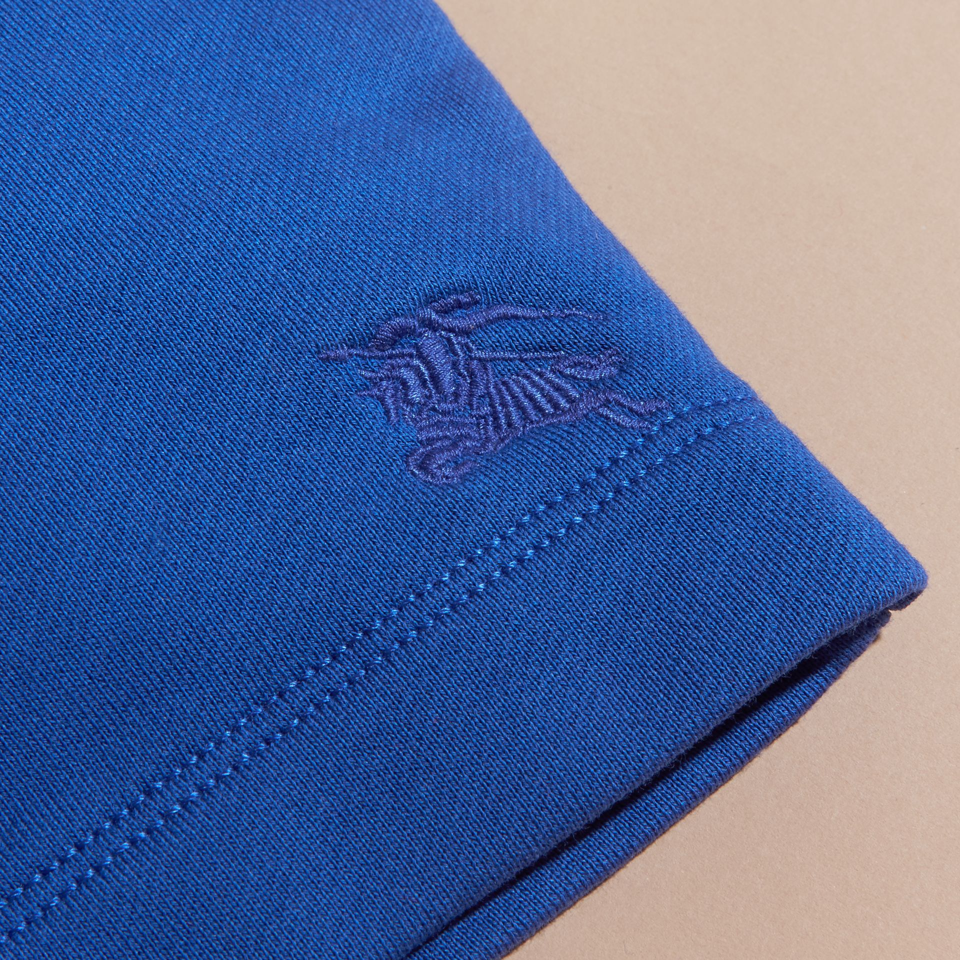 Cotton Jersey Drawcord Shorts in Brilliant Blue - Boy | Burberry Hong Kong - gallery image 2