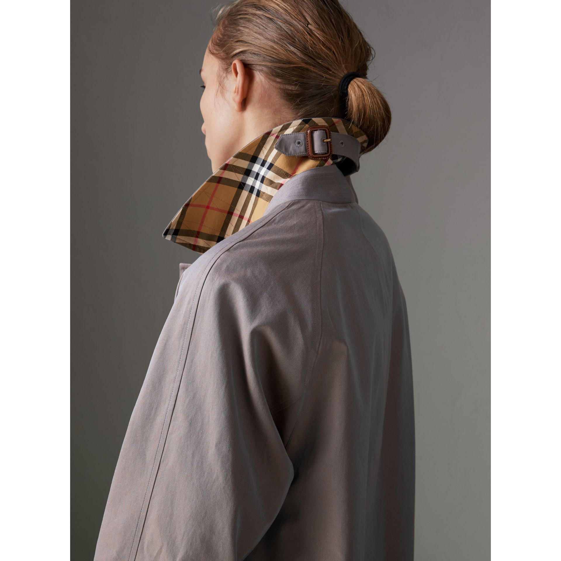 The Camden Car Coat in Lilac Grey - Women | Burberry - gallery image 1