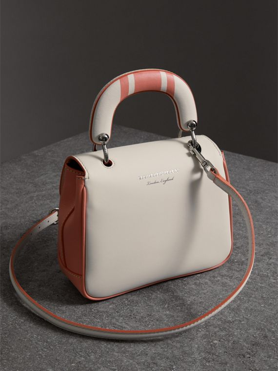 The Small DK88 Top Handle Bag with Geometric Print in Sugar Pink/natural - Women | Burberry Canada - cell image 2