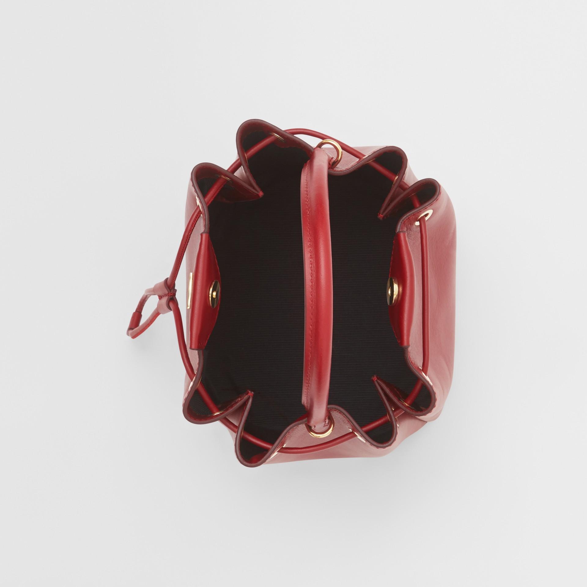 Monogram Motif Leather Bucket Bag in Dark Carmine - Women | Burberry United States - gallery image 3