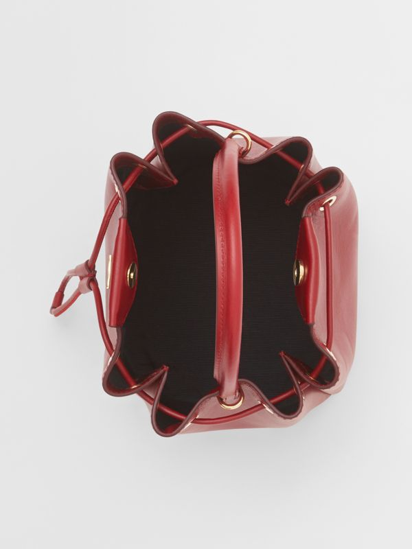 Monogram Motif Leather Bucket Bag in Dark Carmine - Women | Burberry United Kingdom - cell image 3