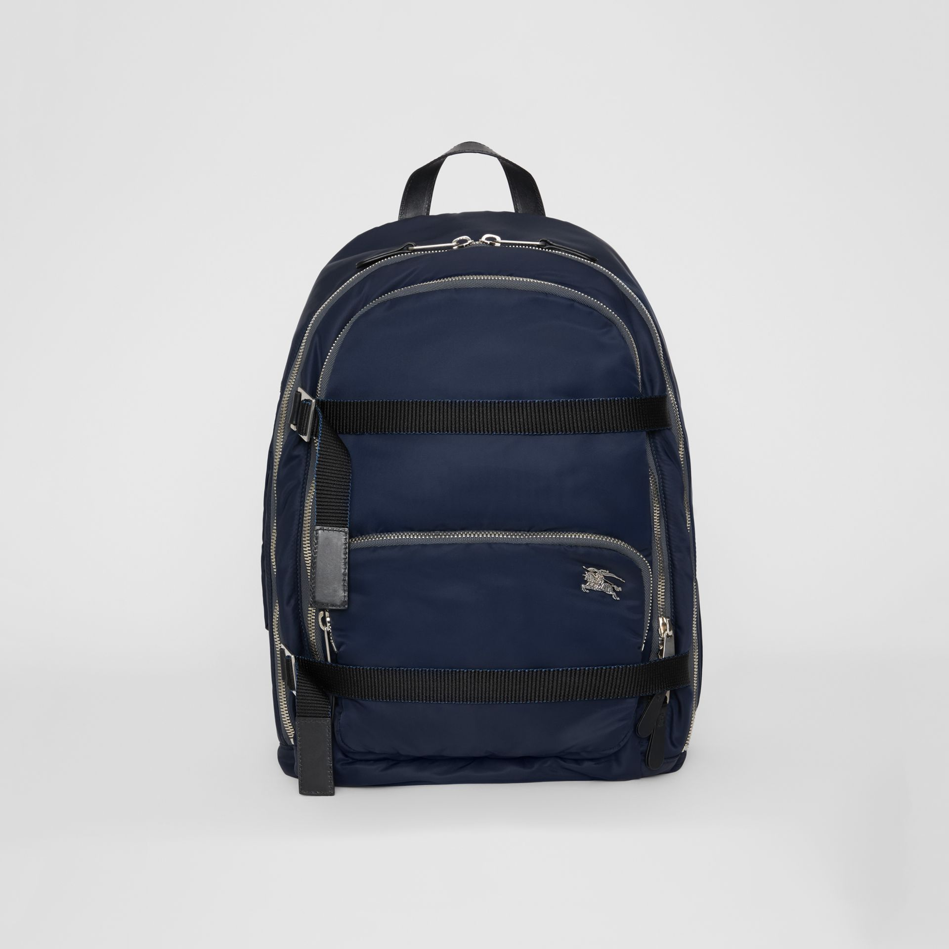 Large EKD Aviator Nylon Backpack in Ink Blue - Men | Burberry United States - gallery image 0