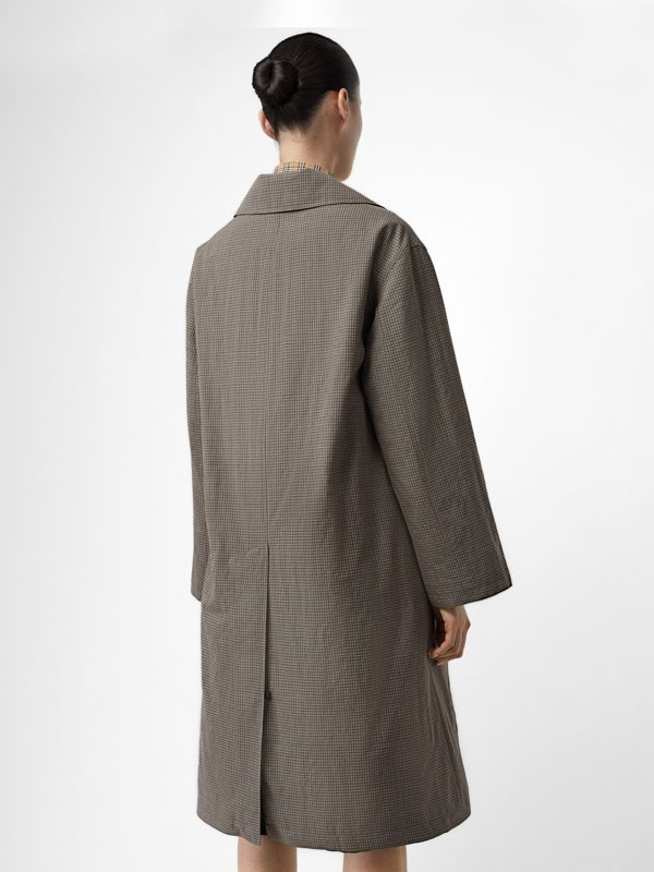 Check Wool Oversized Coat in Taupe - Women | Burberry - cell image 2