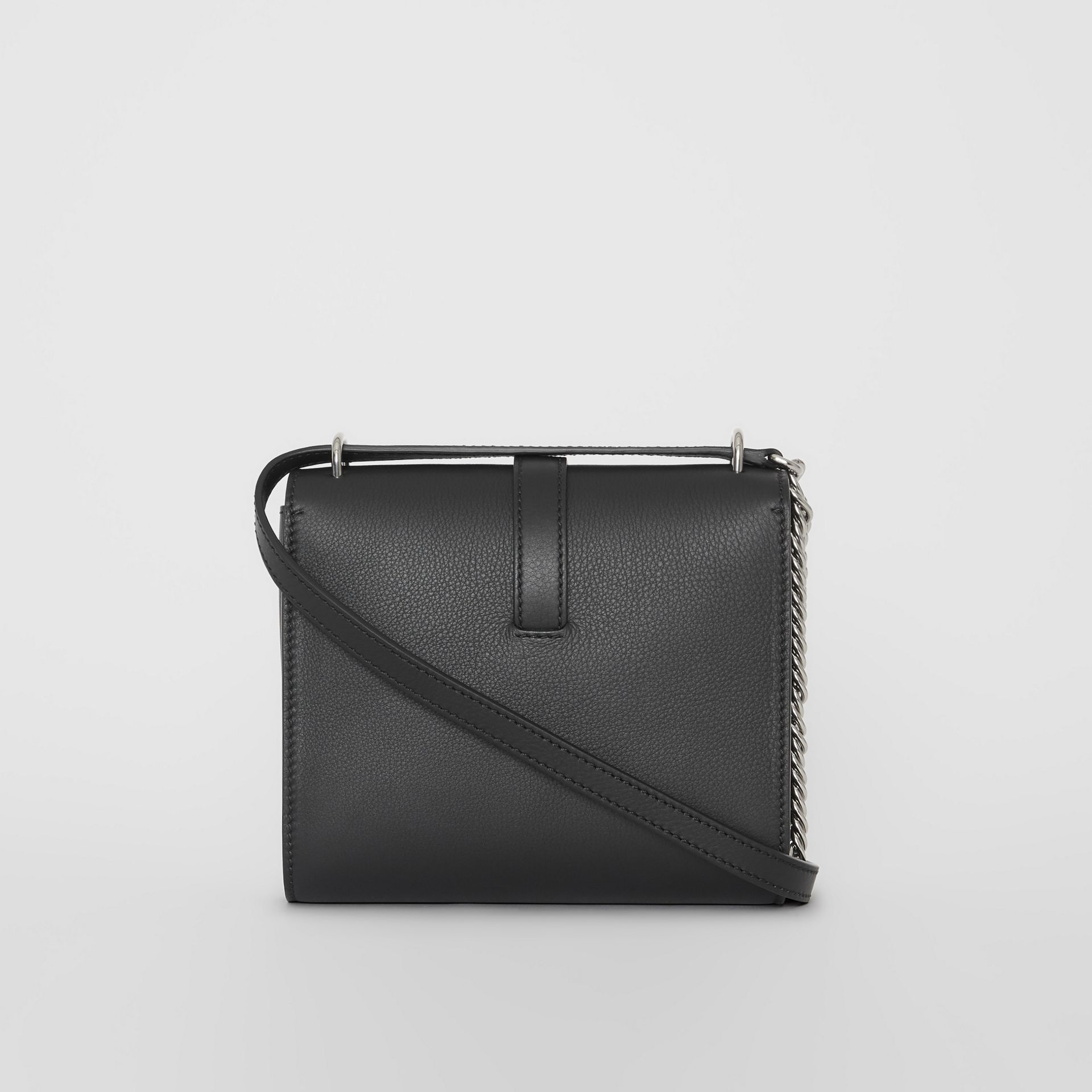The Leather Grommet Detail Crossbody Bag in Black - Women | Burberry Canada - gallery image 7