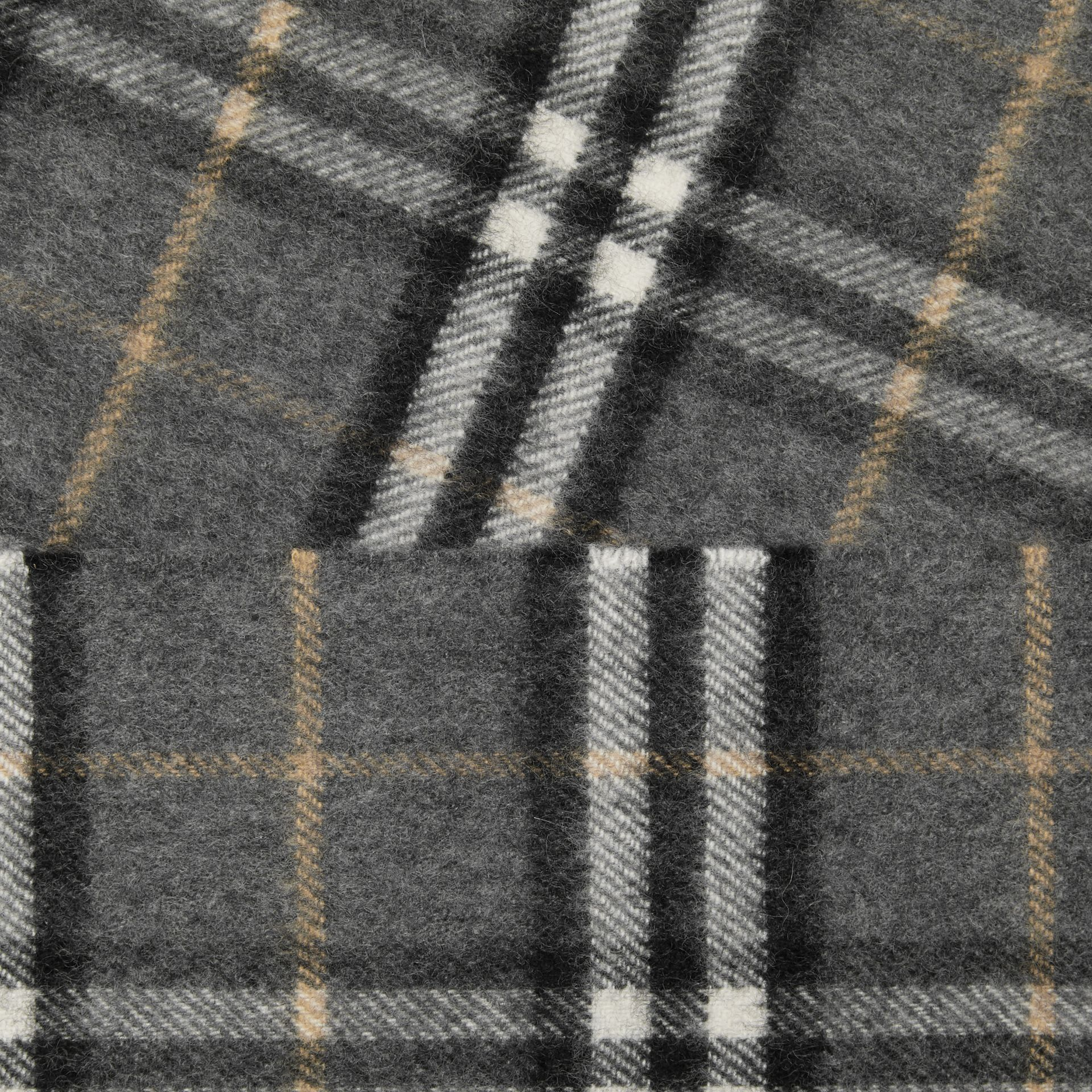 The Classic Vintage Check Cashmere Scarf in Pewter Grey | Burberry Australia - gallery image 1