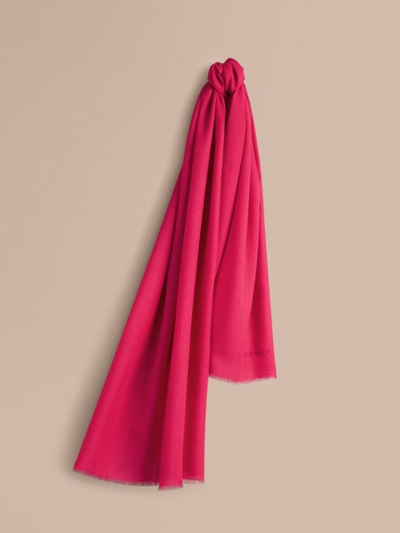The Lightweight Cashmere Scarf in Fuchsia Pink | Burberry Singapore