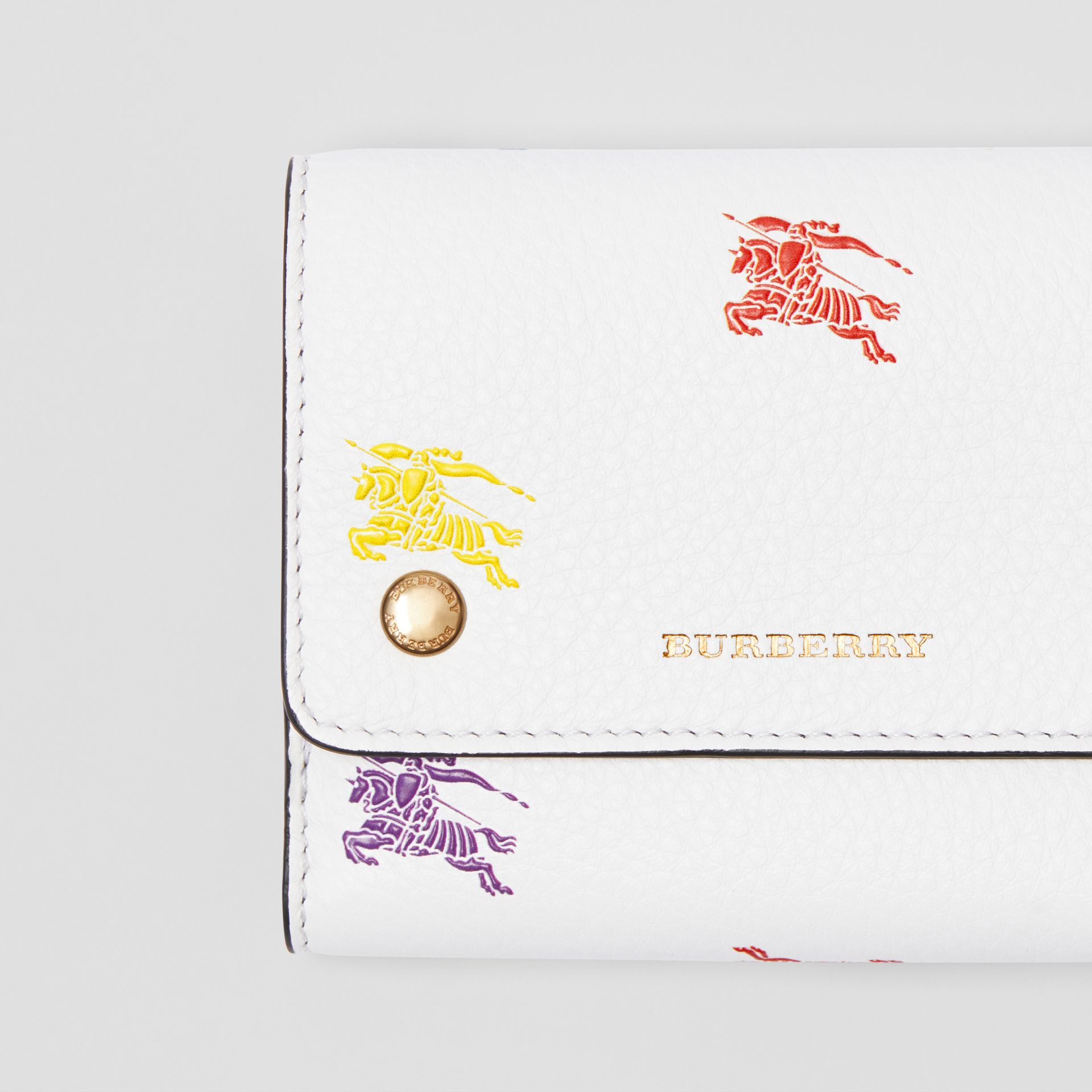 Small EKD Leather Wallet in Chalk White - Women | Burberry United Kingdom - gallery image 1