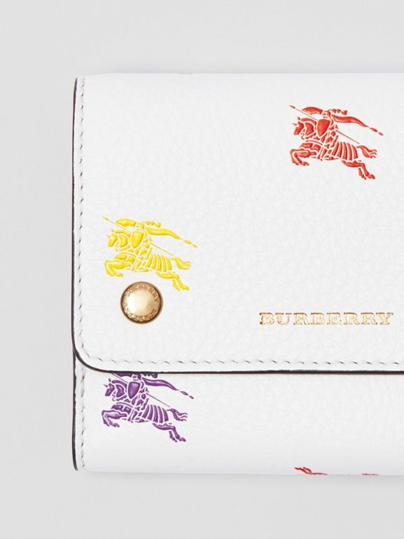 Small EKD Leather Wallet in Chalk White - Women | Burberry United Kingdom - cell image 1