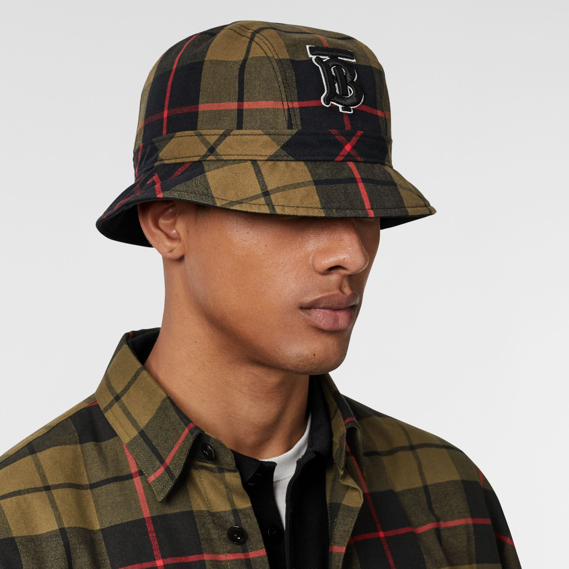 Reversible Monogram Motif Bucket Hat in Military Olive | Burberry Singapore - gallery image 3