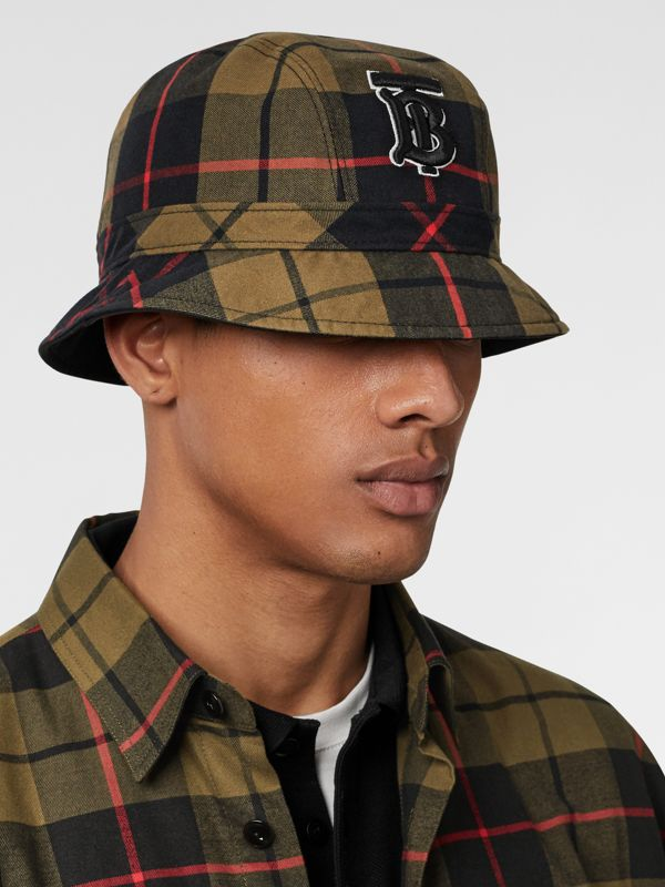 Reversible Monogram Motif Bucket Hat in Military Olive | Burberry Singapore - cell image 3