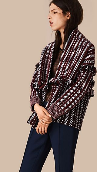 Fringed Wool Cashmere Jacket