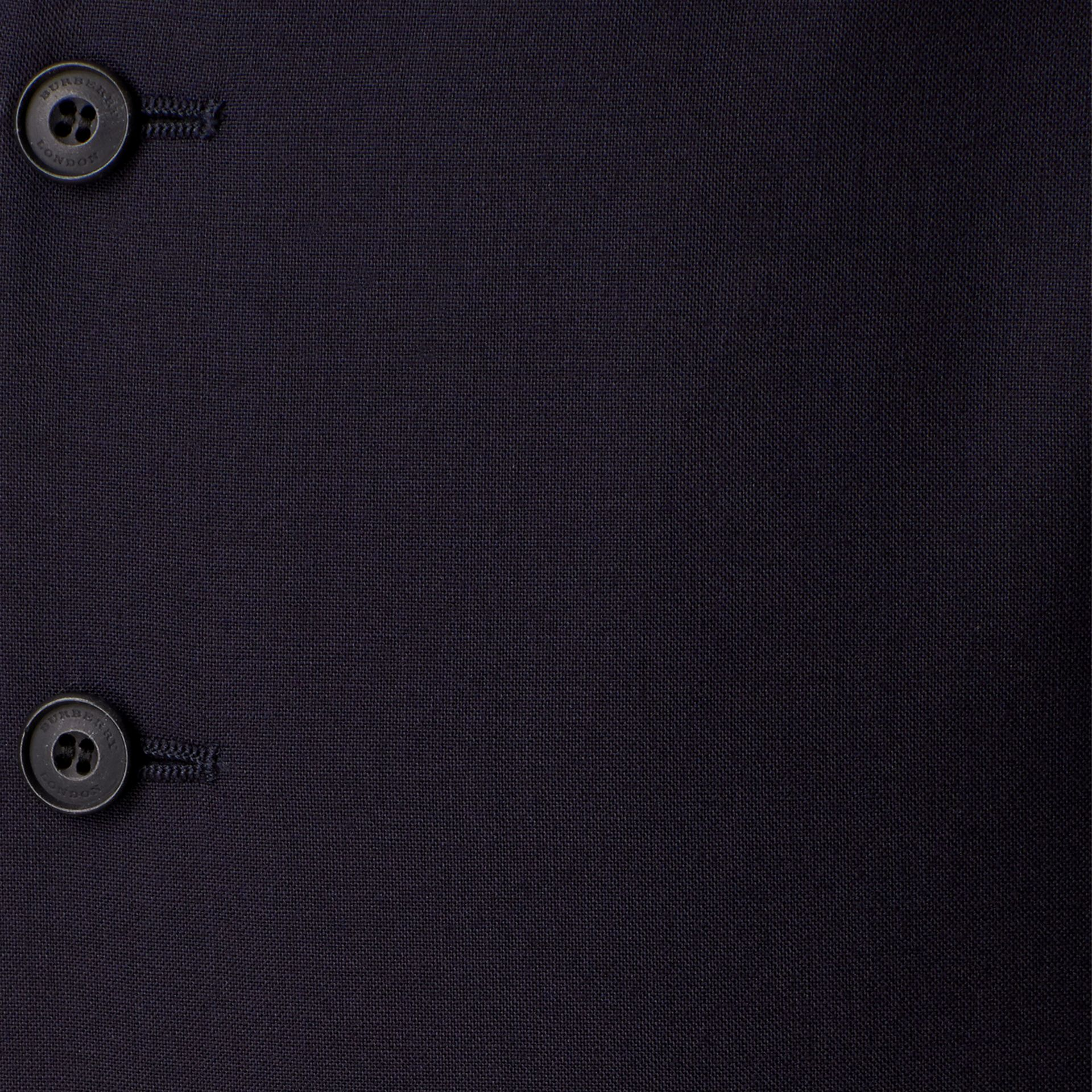 Slim Fit Wool Waistcoat in Navy - Men | Burberry United Kingdom - gallery image 1