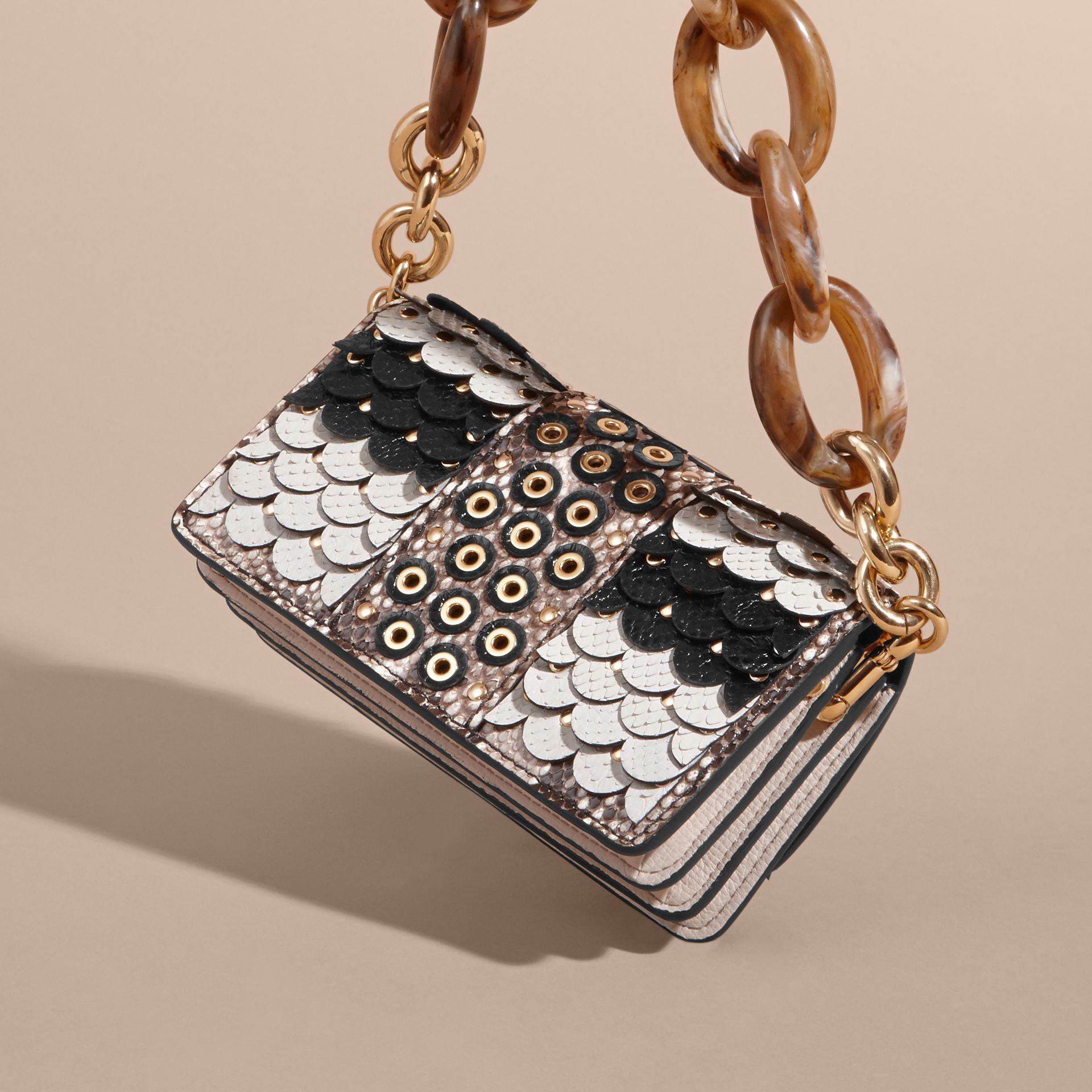 The Small Buckle Bag in Scalloped Snakeskin - gallery image 5