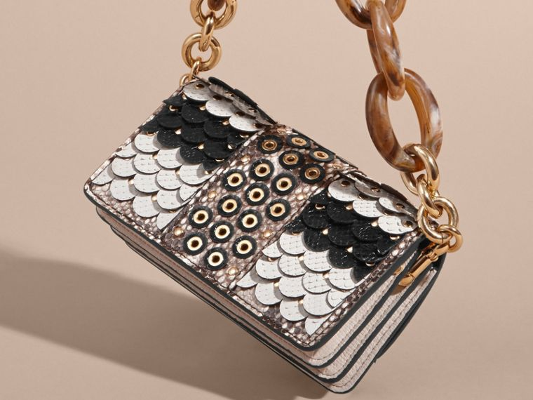 The Small Buckle Bag in Scalloped Snakeskin - cell image 4