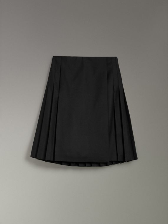 Wool Twill Kilt in Black - Women | Burberry Australia - cell image 3