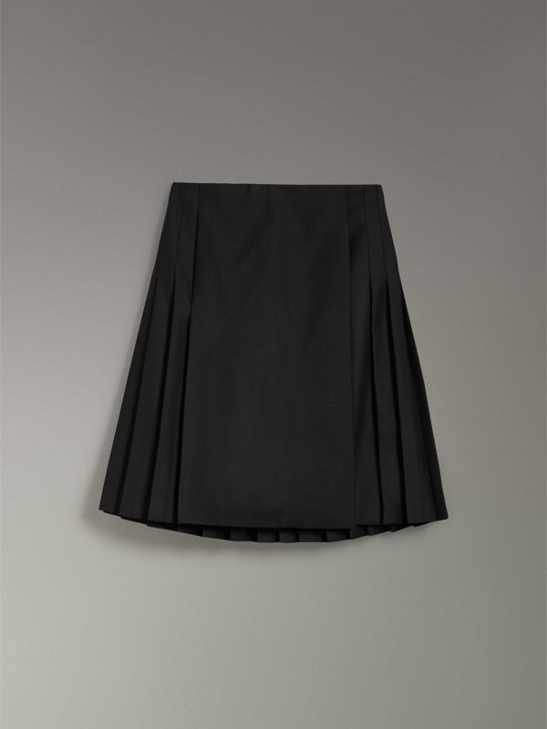 Wool Twill Kilt in Black - Women | Burberry United Kingdom - cell image 3