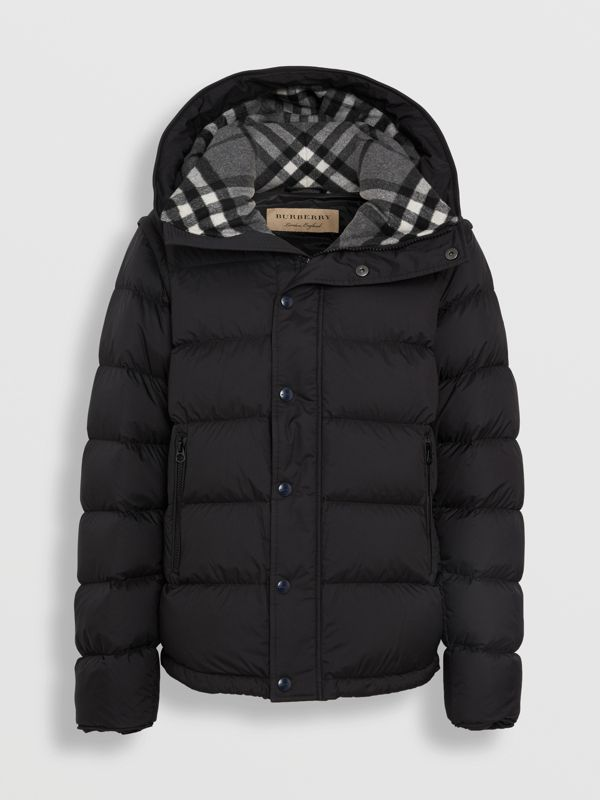Detachable-sleeve Down-filled Hooded Puffer Jacket in Black - Men | Burberry - cell image 3