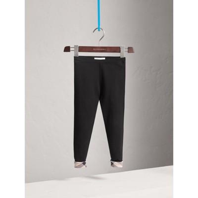 Burberry - Leggings en coton extensible - 1