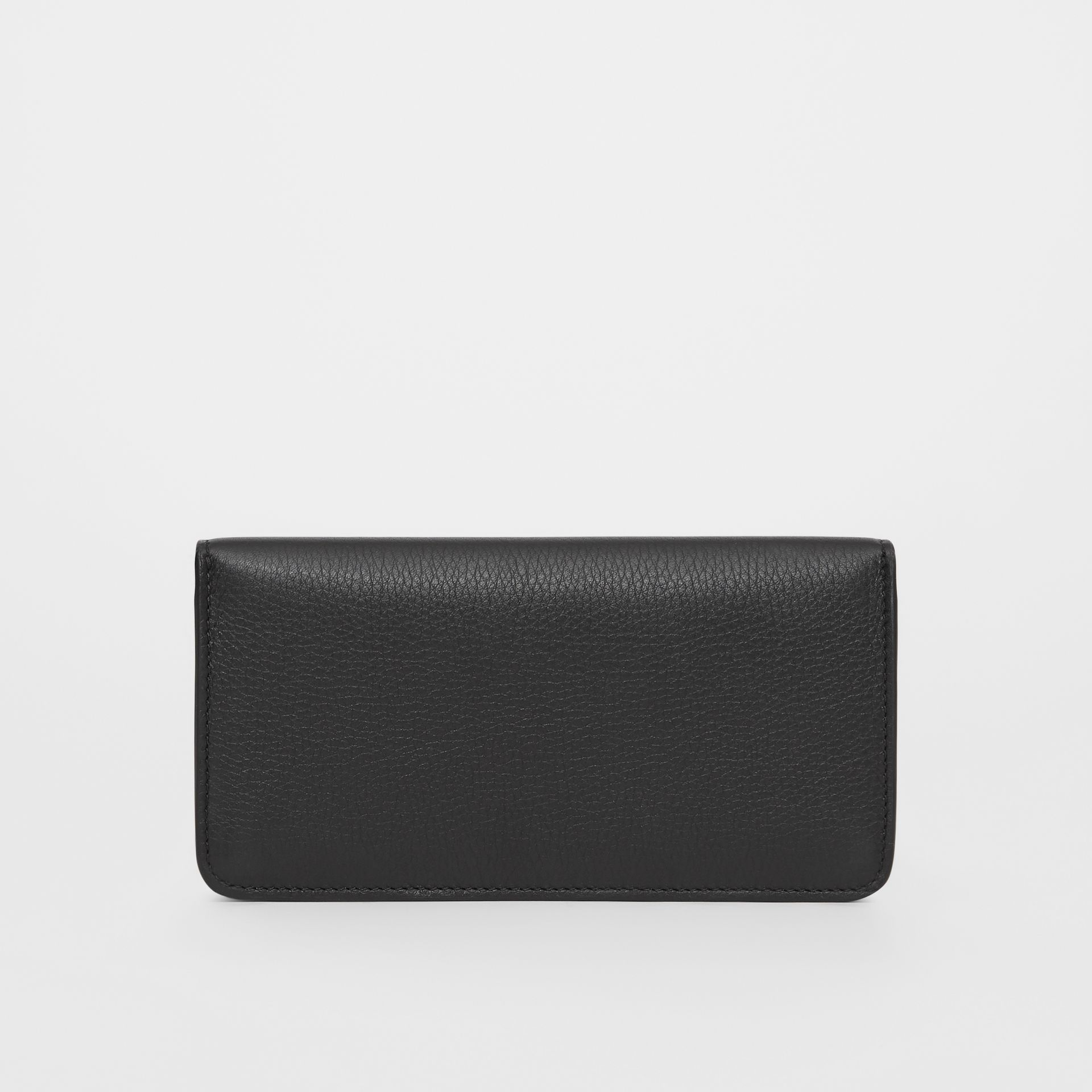 Leather Phone Wallet in Black | Burberry - gallery image 5