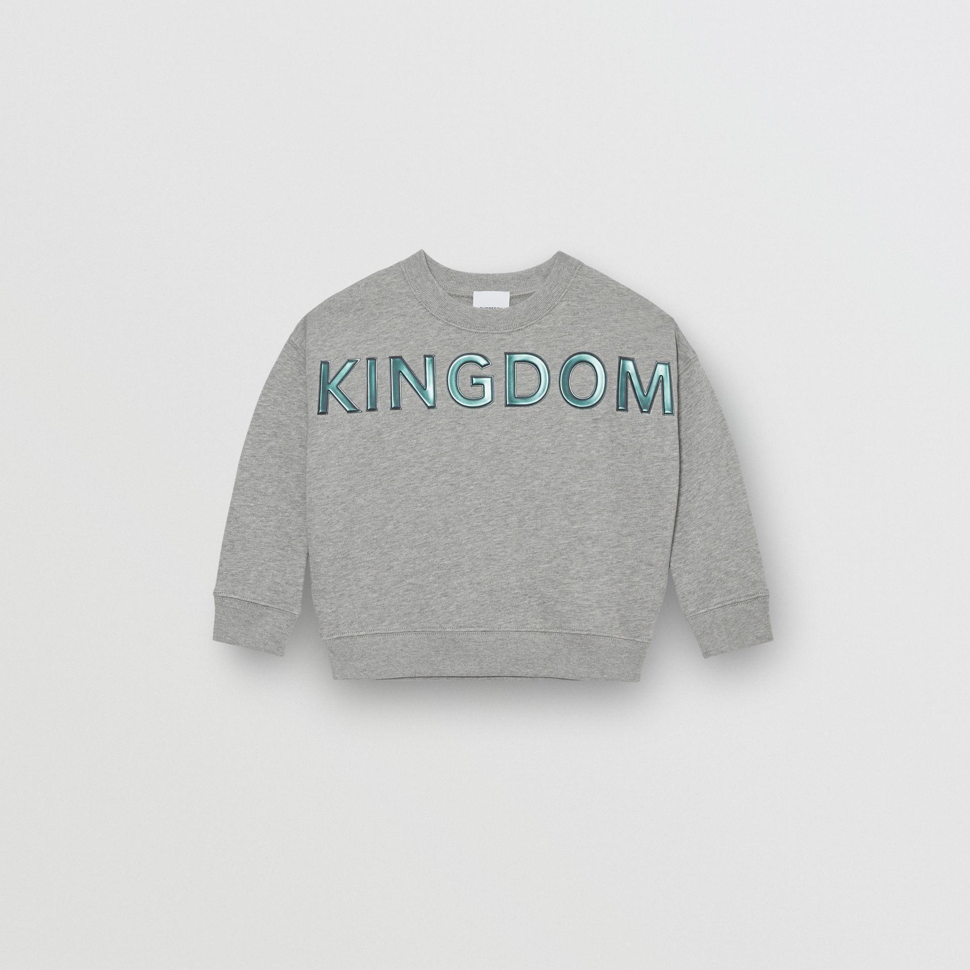 Kingdom Motif Cotton Sweatshirt in Grey Melange | Burberry Hong Kong S.A.R - gallery image 0