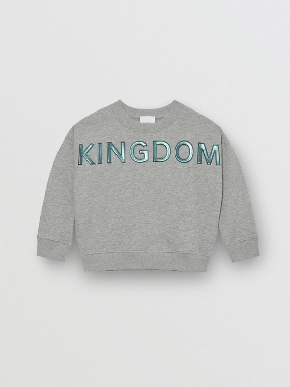 Sweat-shirt en coton Kingdom (Camaïeu De Gris)