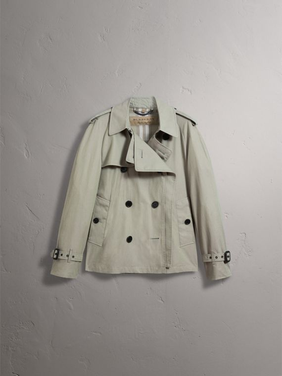 Unisex Tropical Gabardine Trench Jacket in Slate Green - Men | Burberry - cell image 2