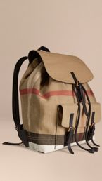 Canvas Check Backpack